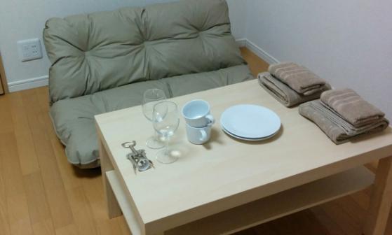 テーブル周辺
