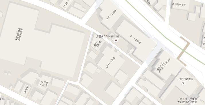 Google map、馬込周辺